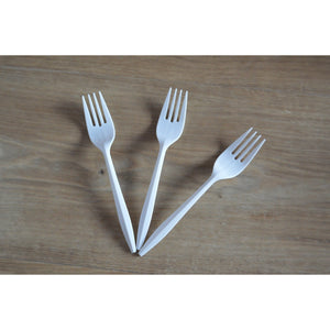 Plastic Disposable Lunch Forks - White