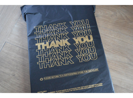 "1/8 - ""Thank You"" Plastic Shopping Bags"