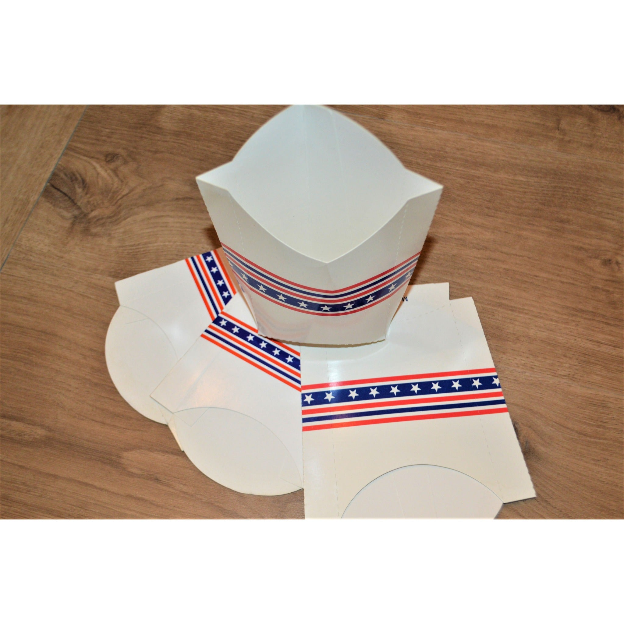 Star-Spangled Fried Food Containers