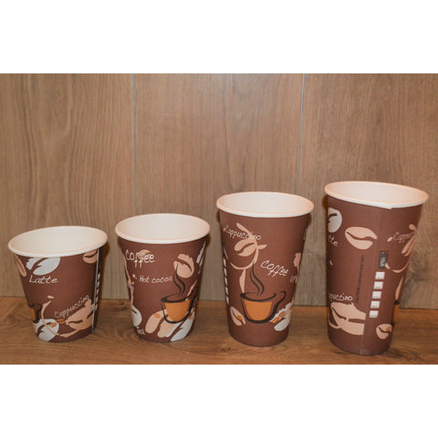 12 OZ Printed Coffee Cups - 1000 Pieces