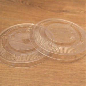 Clear Flat Lids with Straw Slot