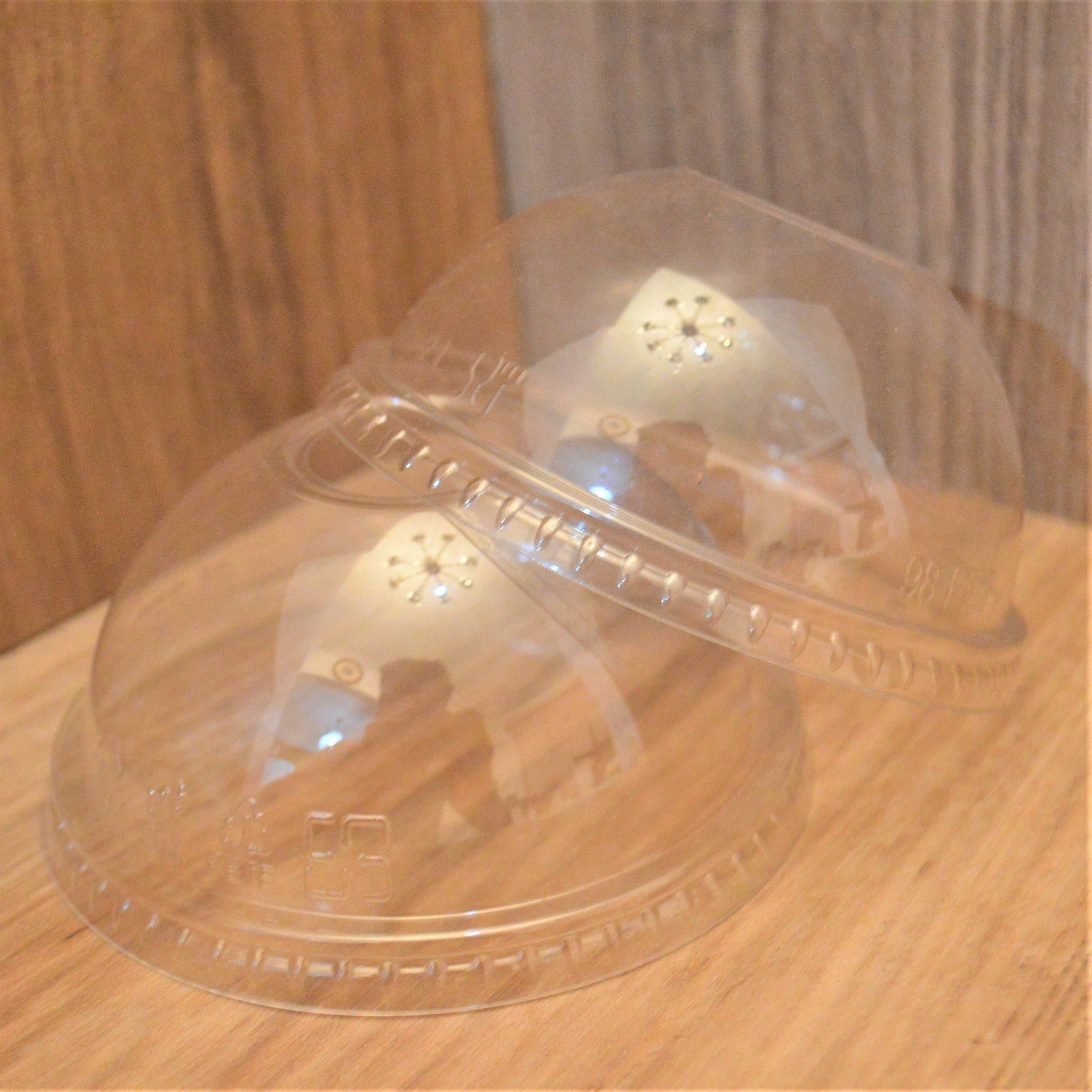 16 OZ - 24 OZ Clear Cup Dome Lids with Straw Hole