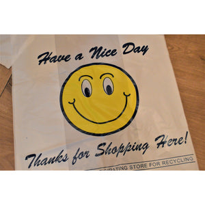 Smiley Face Plastic Shopping Bags