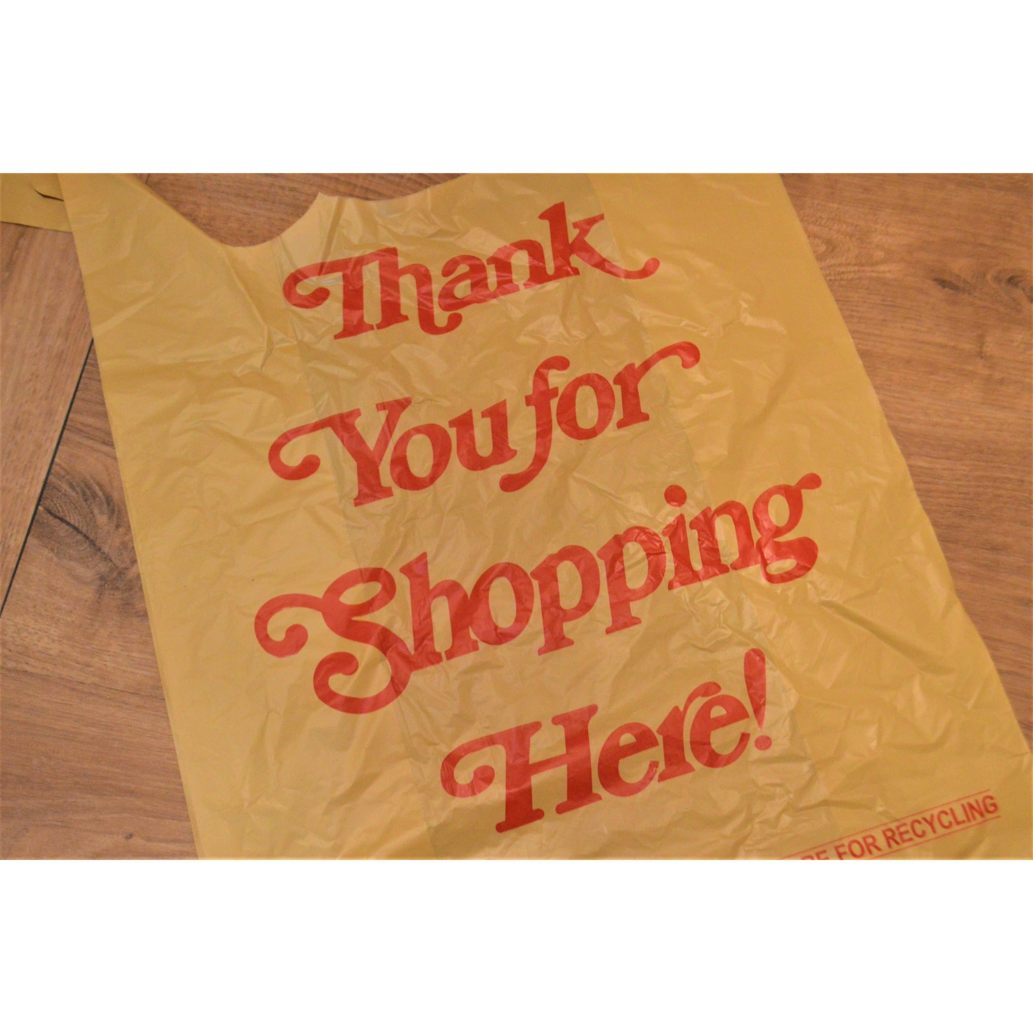 "1/6 - ""Thank You for Shopping Here!"" Plastic Shopping Bags"