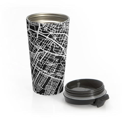 Turin Italy Map Stainless Steel Travel Mug