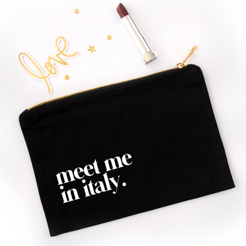 Meet Me in Italy Cosmetic Bag