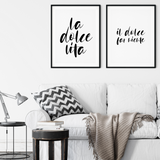 La Dolce Vita Italian Quote Printable Wall Art