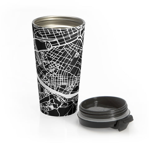 Florence Italy Map Stainless Steel Travel Mug