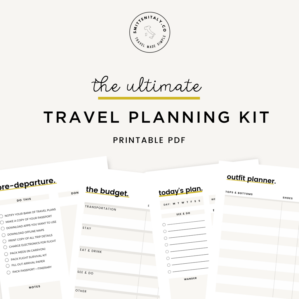 Ultimate Italy Travel Planning Kit (Smitten Italy)