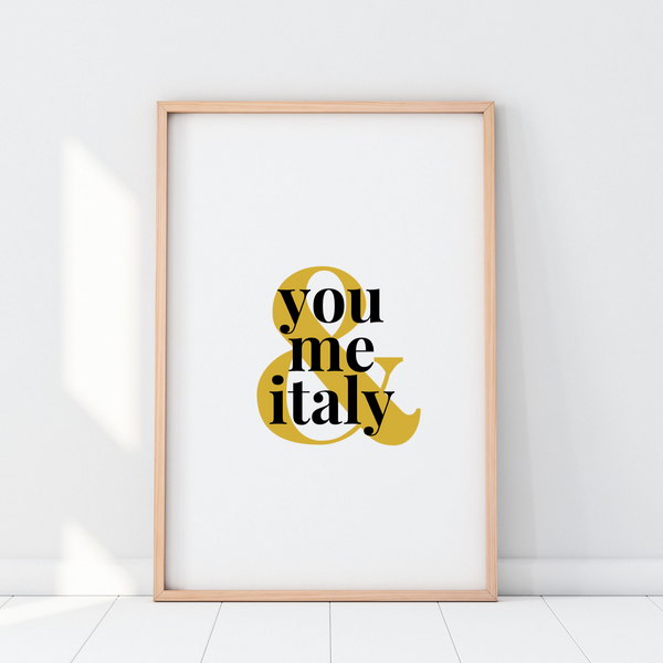 You, Me & Italy Printable Wall Art