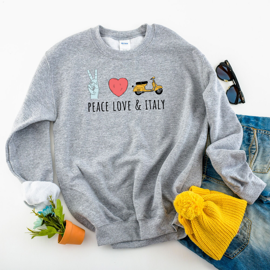 Peace, Love & Italy Sweatshirt by Smitten Italy