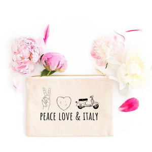 Peace, Love & Italy Cosmetic Bag
