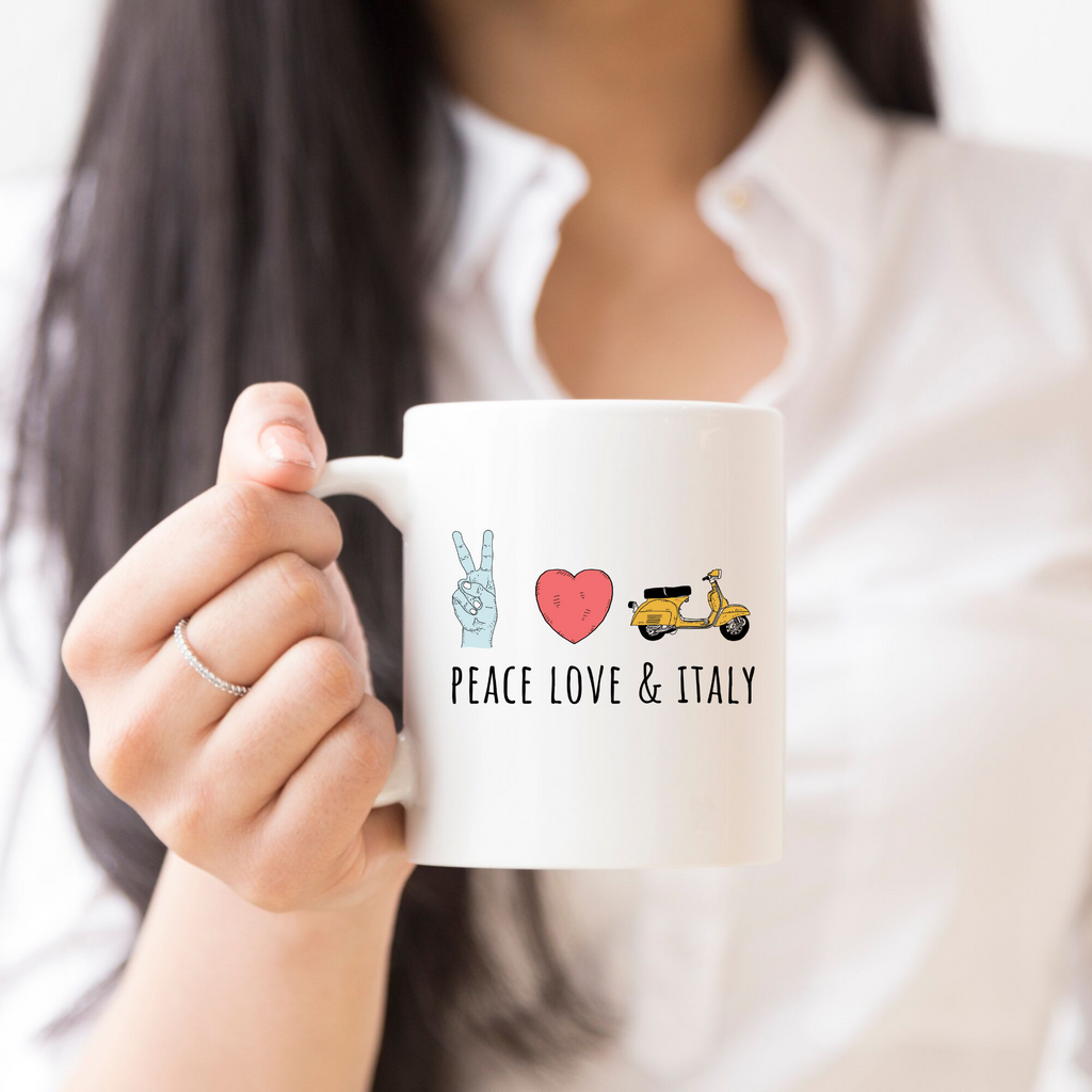 The Peace, Love & Italy Coffee Mug (Smitten Italy)