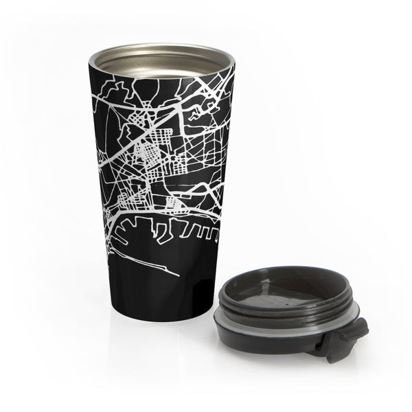 Naples Italy Map Stainless Steel Travel Mug