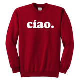 """Ciao"" Kids Sweatshirt for Italy Lovers"