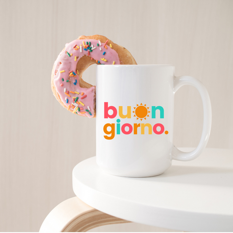 Buongiorno Coffee Mug for Italy lovers