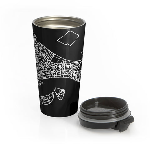 Venice Italy Map Stainless Steel Travel Mug