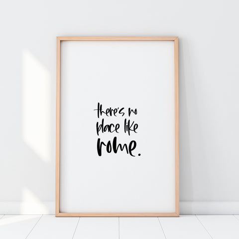 There's No Place like Rome Printable Wall Art