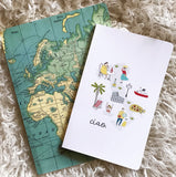 Italy Illustrated Map Journal (small)