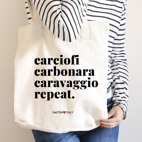 Rome Lovers Tote Bag (Carciofi, Carbonara, Caravaggio Repeat.)