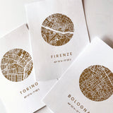 Gold Foil City Maps Art Print