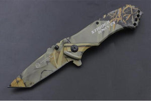 Camo Folding Tactical Knife Outdoor Hunting Knife