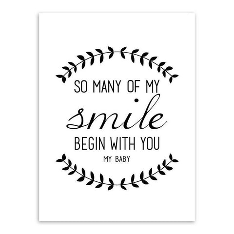 so many of my smile begin with you my baby canvas art print 20