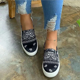 Bandana Print Casual Slip-on