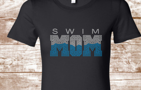 Swim Mom Bling Design