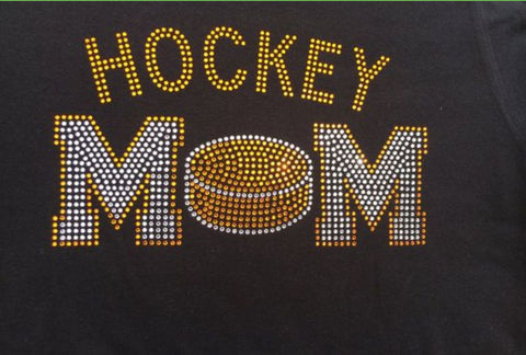 Hockey Mom Bling Design orange clear