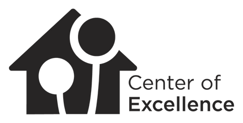 Center of Excellence Custom order Logo in White