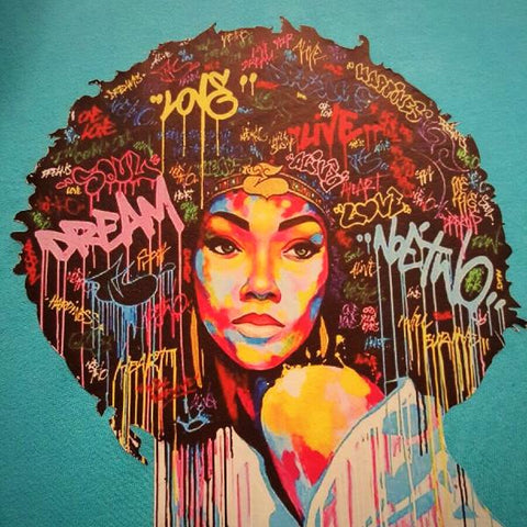 Afrocentric Colorful Queen T-shirt