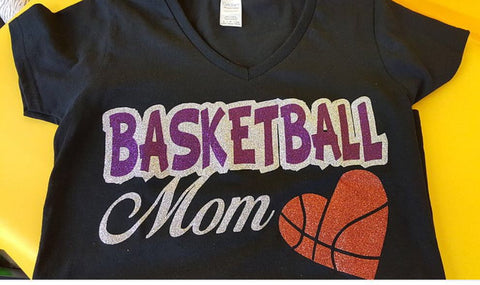 Basketball mom heart design