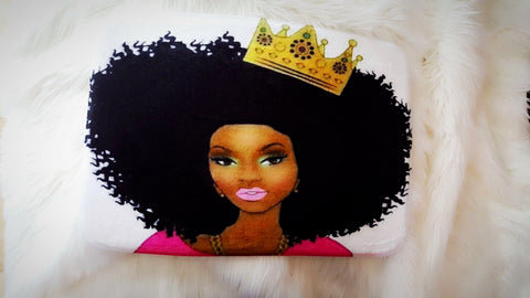Afrocentric Queen with Crown Bath Mat
