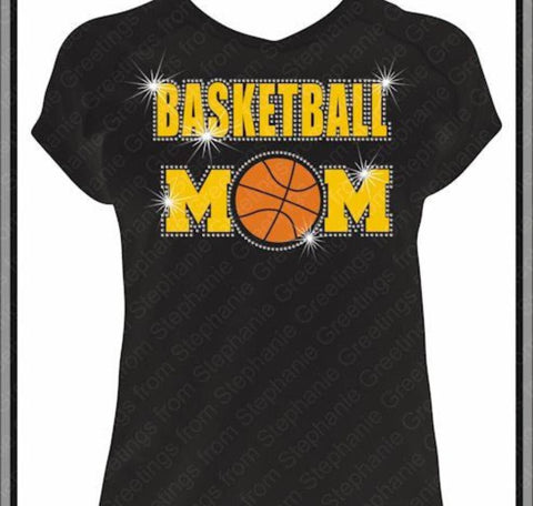 Basketball Mom Bling with glitter