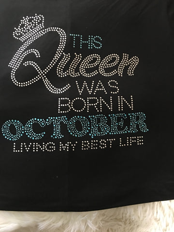 Birthday Queen Bling Premium Tshirt