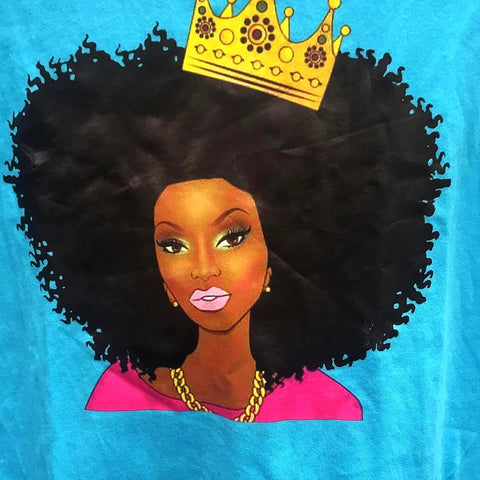 Beautiful Afrocentric Queen with Crown t-shirt