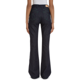The Edie Flare High-Waist Dark Indigo Soft Wash