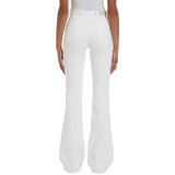 The Edie Flare High-Waist Optic White