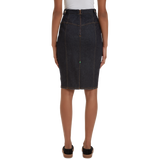 The Margot Pencil Skirt Dark Indigo Soft Wash
