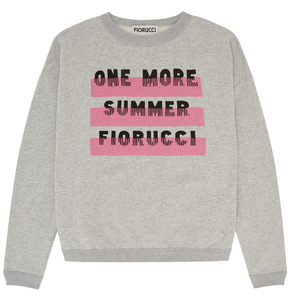 One More Summer Oversize Sweatshirt Brilliant White Pale Grey Marl
