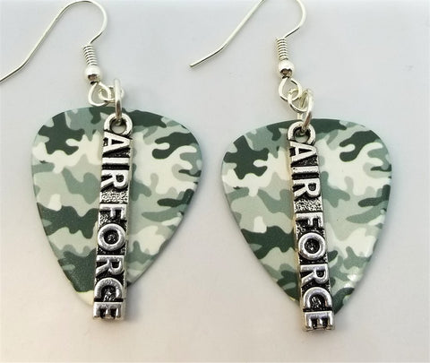 Air Force Charms Guitar Pick Earrings - Pick Your Color