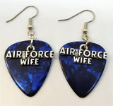 Air Force Wife Charms Guitar Pick Earrings - Pick Your Color