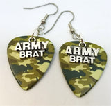 Army Brat Charms Guitar Pick Earrings - Pick Your Color