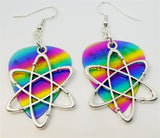 Atom Charm Guitar Pick Earrings - Pick Your Color