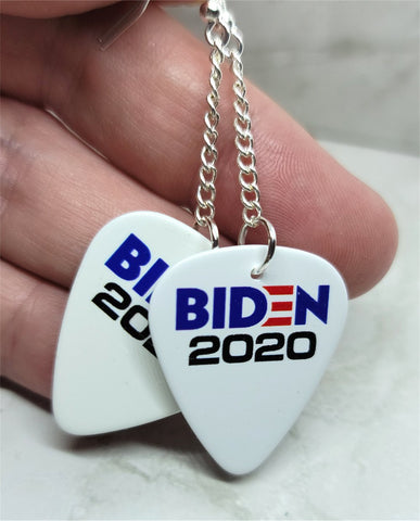 Biden 2020 Dangle Guitar Pick Earrings