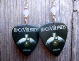 Black Veil Brides Ritual Guitar Pick Earrings with Opal Swarovski Crystals