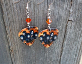 Black Veil Brides Group Picture Guitar Pick Earrings with Fire Opal Swarovski Crystals