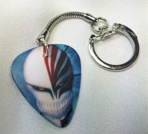 Bleach Death Mask Guitar Pick Keychain