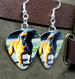 Boxer Puppy Guitar Pick Earrings
